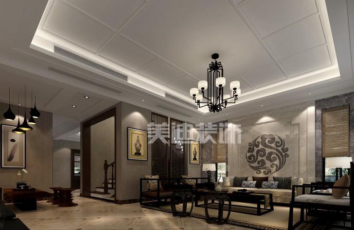 堤亚纳湾新中式亚博体育app下载安装效果图—客厅