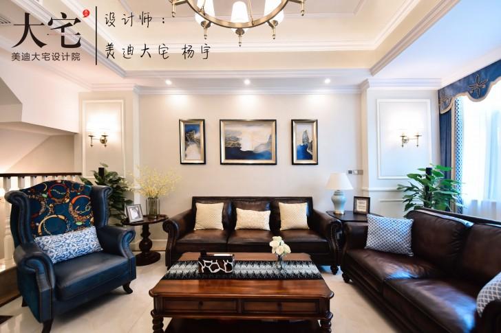 龙湖湘风原著260平小美风格亚博体育app下载安装亚博体育app官方下载苹果实拍图-二楼客厅