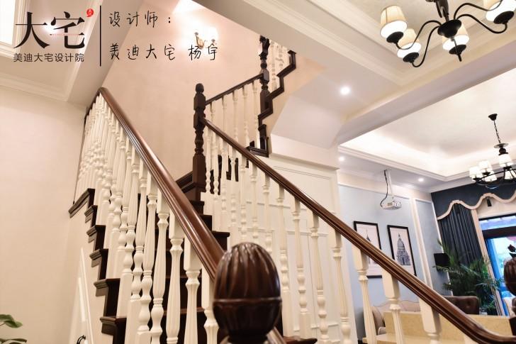 龙湖湘风原著260平小美风格亚博体育app下载安装亚博体育app官方下载苹果实拍图-楼梯