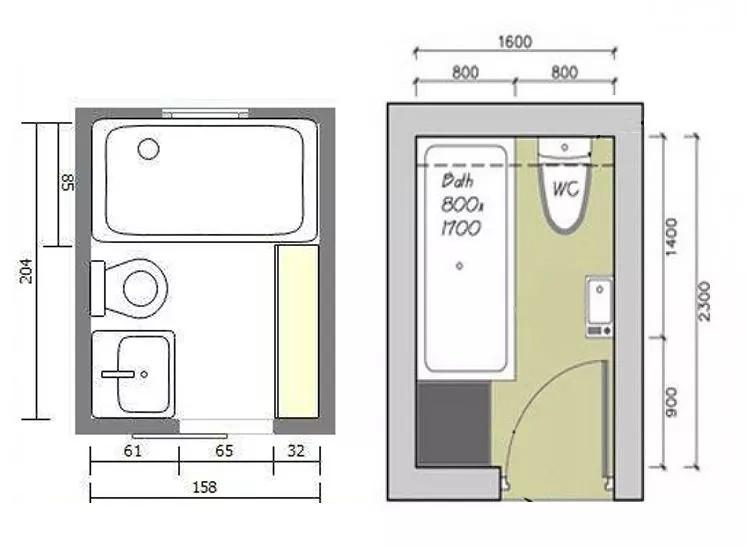 如果衛生間已經小的放不下洗漱臺,那么將洗手臺放至浴室外,讓里面圖片