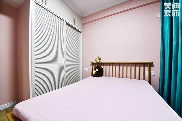 保利香槟国际88平米美式混搭风实景图--卧室