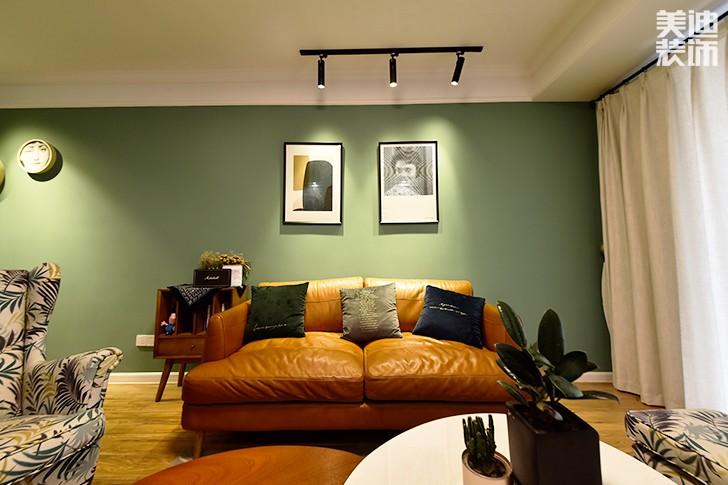 保利香槟国际88平米美式混搭风实景图--客厅