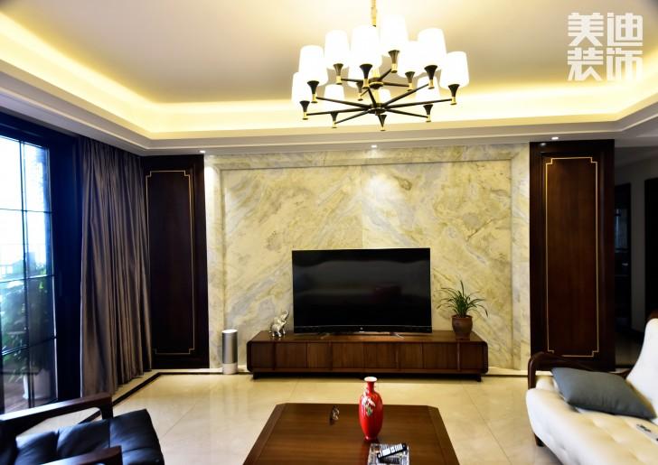湘江豪庭220㎡现代简约风格亚博体育app下载安装效果图-背景墙
