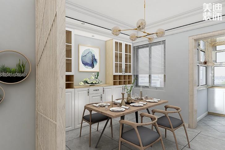 澳海澜庭145平米新中式风格亚博体育app下载安装效果图--餐厅11
