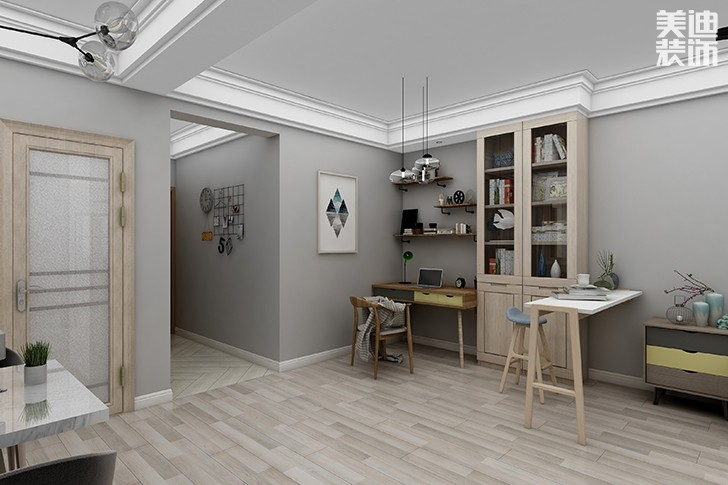 银园公寓89平米现代简约风格亚博体育app下载安装效果图--门厅
