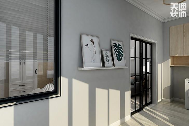 银园公寓89平米现代简约风格亚博体育app下载安装效果图--阳台1