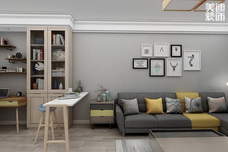 银园公寓89平米现代简约风格亚博体育app下载安装效果图--沙发