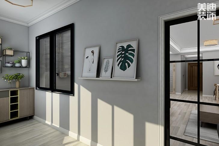 银园公寓89平米现代简约风格亚博体育app下载安装效果图--阳台2