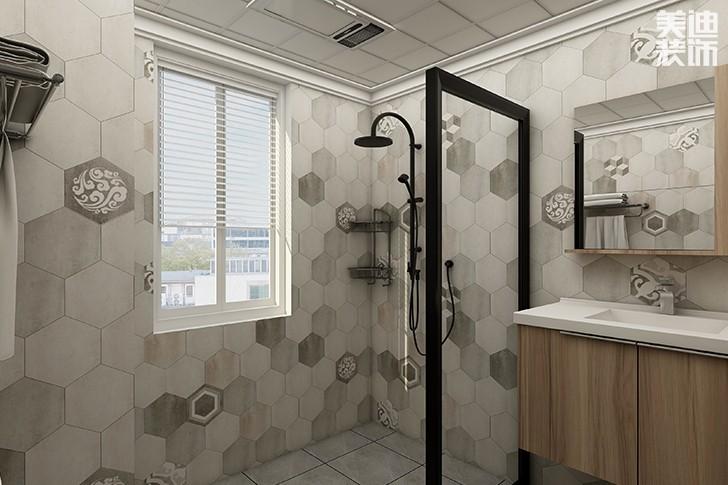 银园公寓89平米现代简约风格亚博体育app下载安装效果图--卫生间