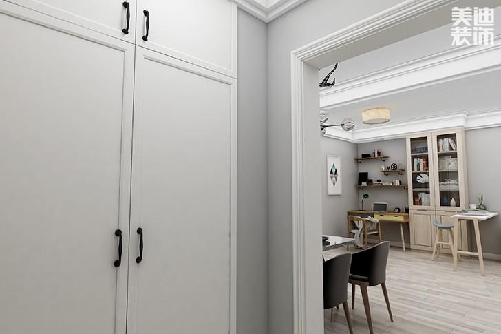 银园公寓89平米现代简约风格亚博体育app下载安装效果图--过道1