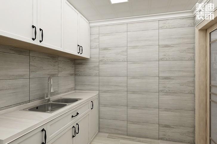 银园公寓89平米现代简约风格亚博体育app下载安装效果图--厨房