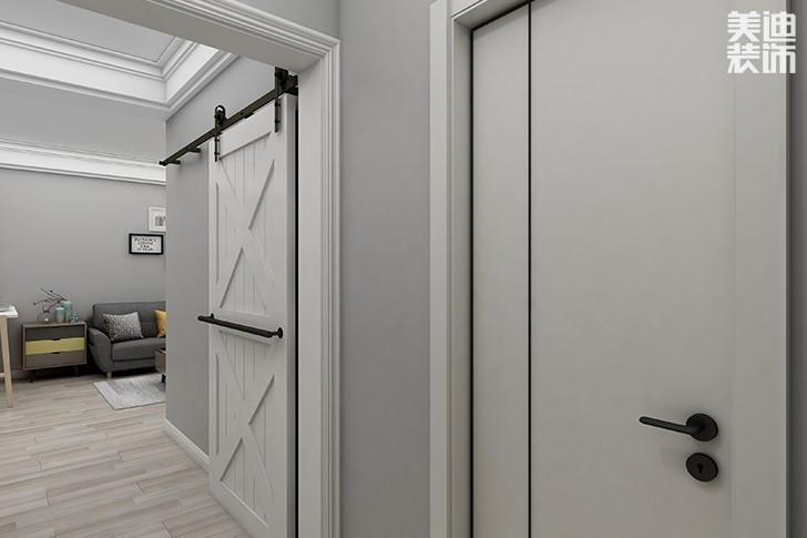 银园公寓89平米现代简约风格亚博体育app下载安装效果图--过道2