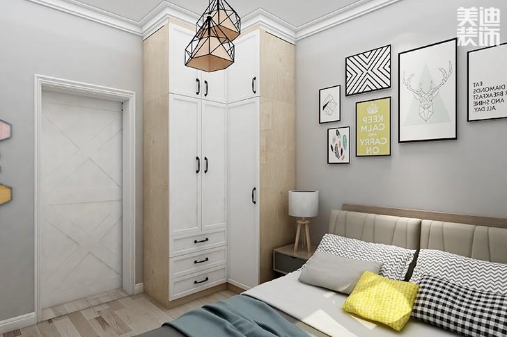 银园公寓89平米现代简约风格亚博体育app下载安装效果图--次卧3