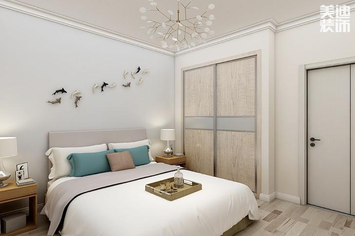 澳海澜庭145平米新中式风格亚博体育app下载安装效果图--一楼次卧
