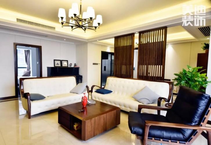 湘江豪庭220㎡现代简约风格亚博体育app下载安装效果图-客厅