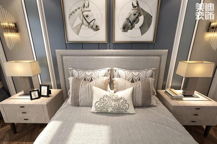 牡丹舸240欧式轻奢风格亚博体育app下载安装效果图--卧室
