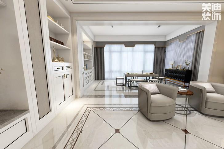 牡丹舸240欧式轻奢风格亚博体育app下载安装效果图-客厅