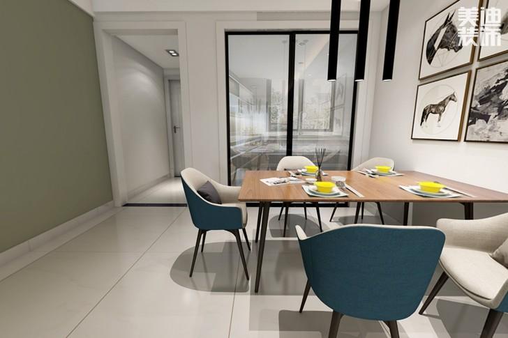 时代倾城87平米现代风格亚博体育app下载安装效果图--餐厅