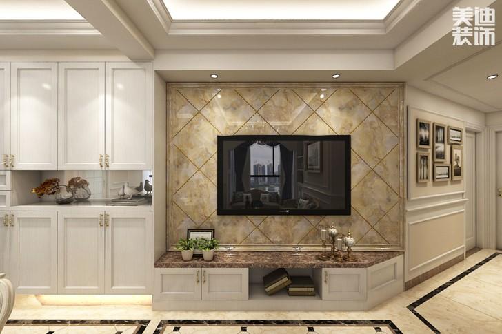 凯通国际80平米欧式风格亚博体育app下载安装效果图--客厅