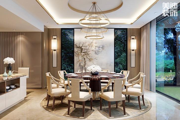 吊顶上的水晶灯饰,大气典雅,处处都体现出简欧 奢华的质感.图片