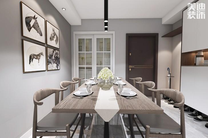 万科城市花园85平米现代风格亚博体育app下载安装效果图--餐厅