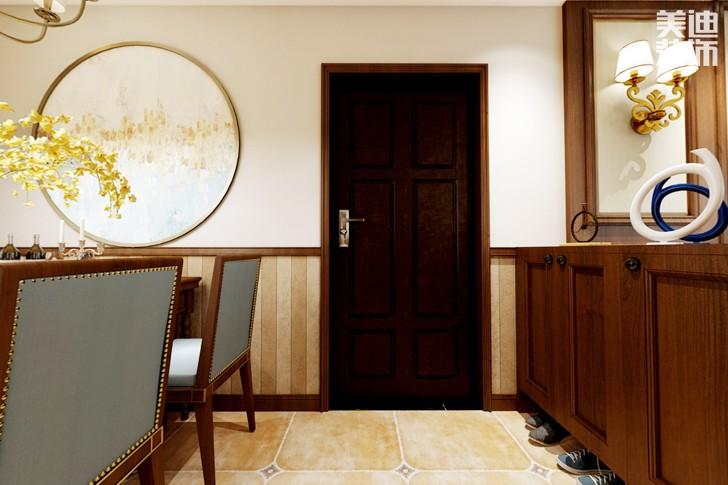 梅溪湖壹号98平米美式风格亚博体育app下载安装效果图--餐厅