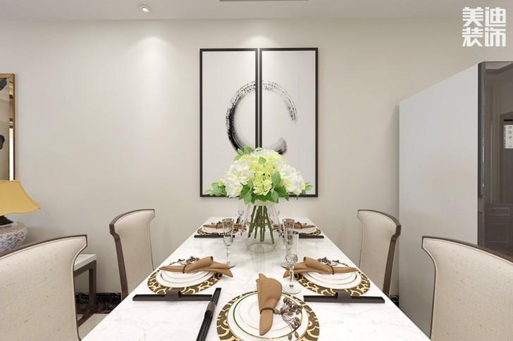 星城荣域160平米新中式风格亚博体育app下载安装效果图--餐厅