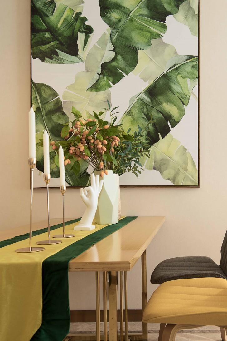 长沙西店样板房美式风格亚博体育app下载安装实景图--餐厅