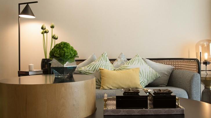 长沙西店样板房美式风格亚博体育app下载安装实景图--沙发