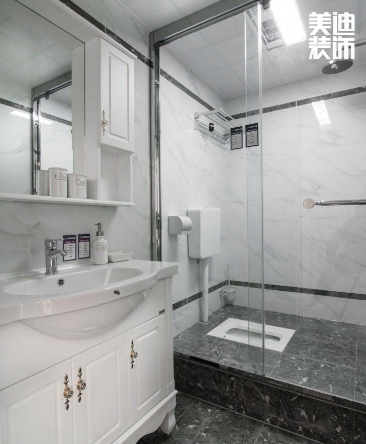 红星店样板间90平米简欧风格装修案例实拍图--卫生间