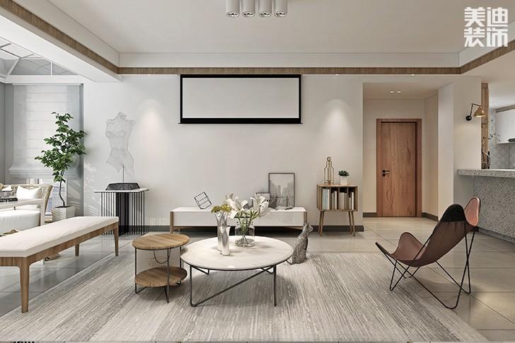 植物原著280平米日式混搭风格亚博体育app下载安装效果图--客厅