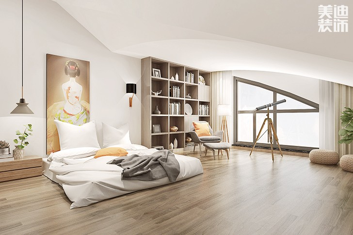 植物原著280平米日式混搭风格亚博体育app下载安装效果图--卧室