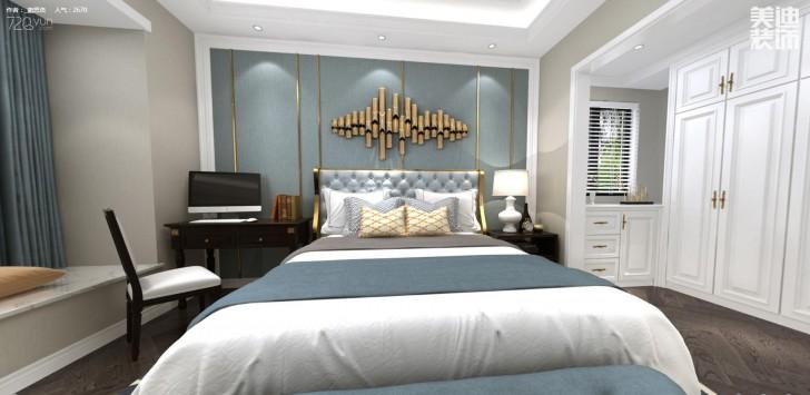 江山壹号200平米新古典风格亚博体育app下载安装效果图--卧室