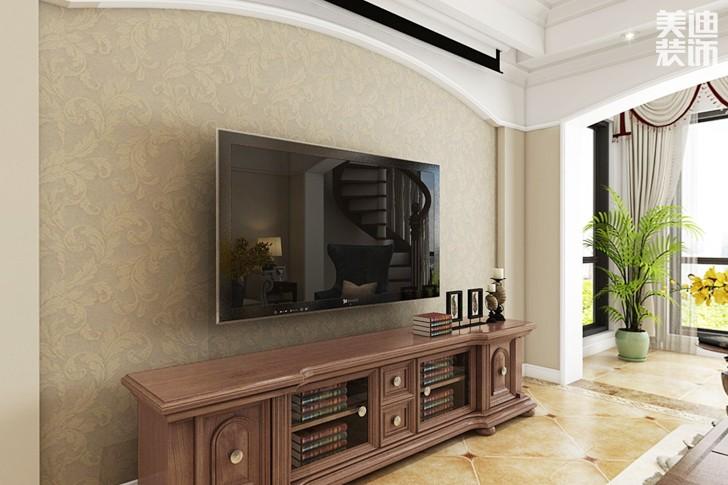 九龙领仕汇230平米美式风格亚博体育app下载安装效果图--客厅
