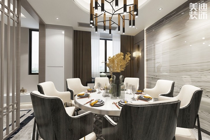 堤亚纳湾190平米现代风格亚博体育app下载安装效果图--餐厅