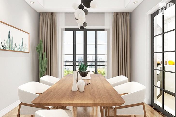 万象府台137平米北欧风格亚博体育app下载安装效果图--餐厅