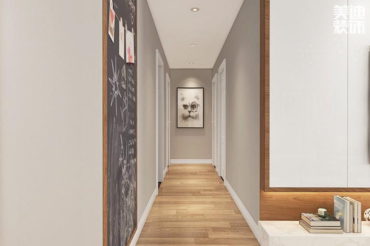 万象府台137平米北欧风格亚博体育app下载安装效果图--过道