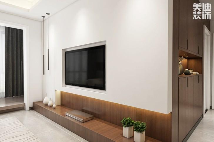 嘉湘华庭95平米现代风格亚博体育app下载安装效果图--客厅