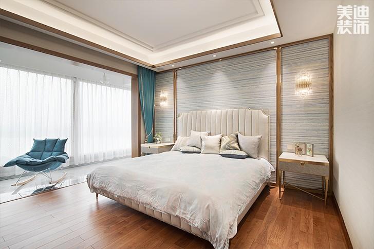 江山壹号180平米新中式风格亚博体育app下载安装亚博体育app官方下载苹果实拍图--卧室