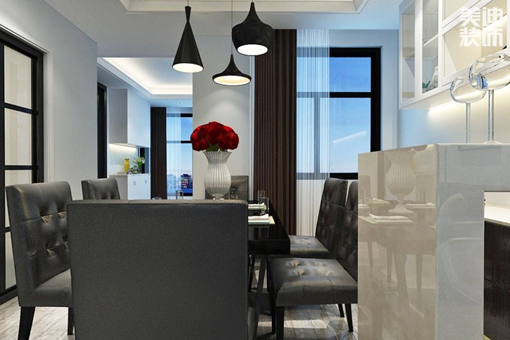 湘江世纪城140平米现代风格亚博体育app下载安装效果图--餐厅