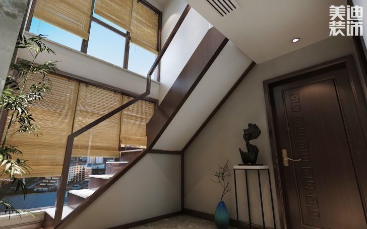 兰侨公馆320平米新中式风格亚博体育app下载安装亚博体育app官方下载苹果效果图--楼梯