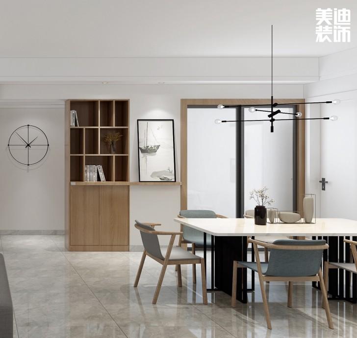 香溢豪庭125平方米现代风格亚博体育app下载安装效果图--餐厅