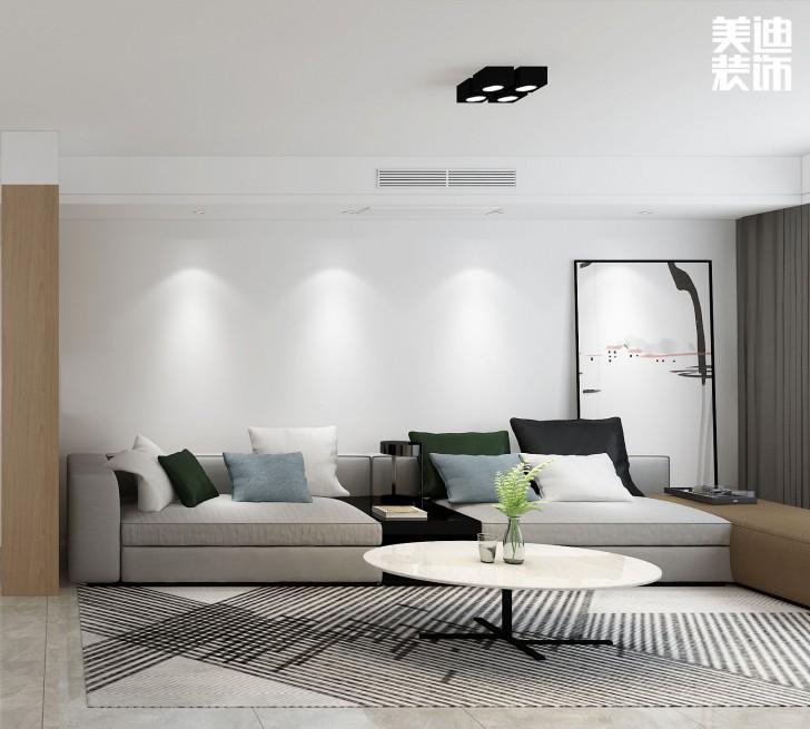 香溢豪庭125平方米现代风格亚博体育app下载安装效果图--客厅