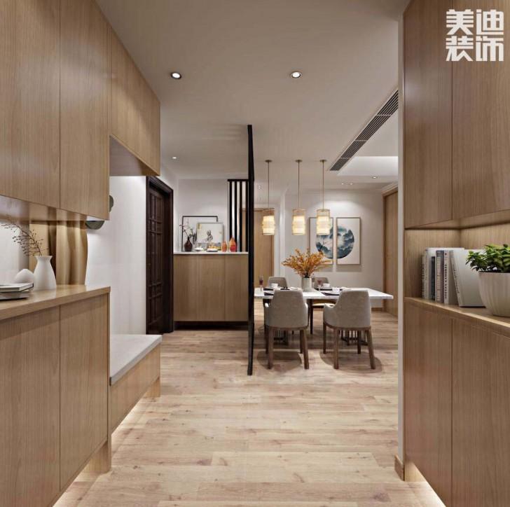 中建嘉和城108平米现代日式风格亚博体育app官方下载苹果效果图--餐厅