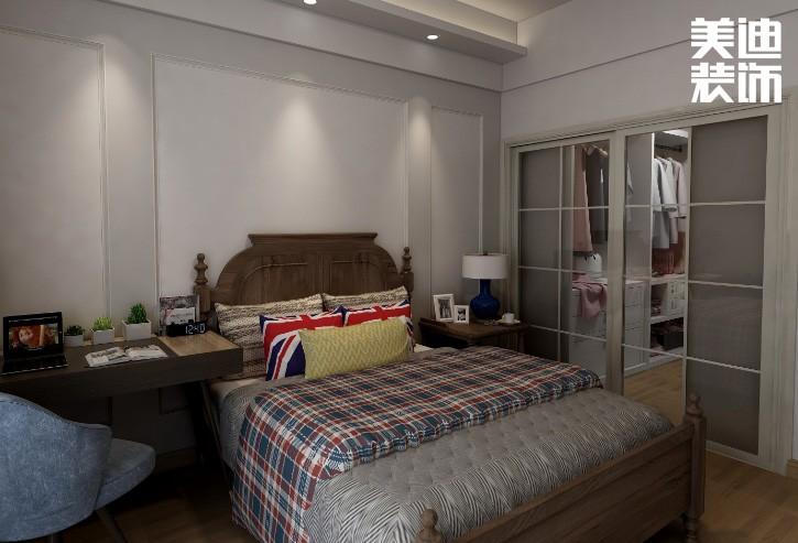 星沙开元路133平方米美式风格亚博体育app官方下载苹果效果图--卧室
