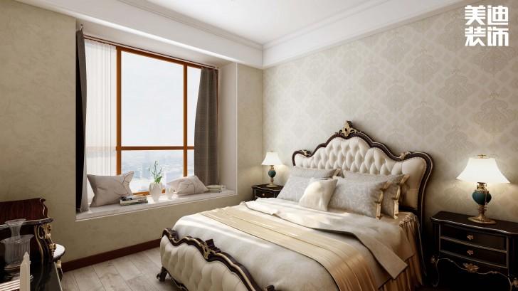 明昇壹城128平方米美式风格亚博体育app官方下载苹果效果图--卧室
