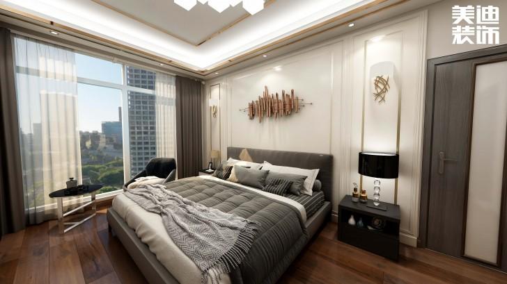 碧桂园观澜111平方米现代风格亚博体育app官方下载苹果效果图--卧室