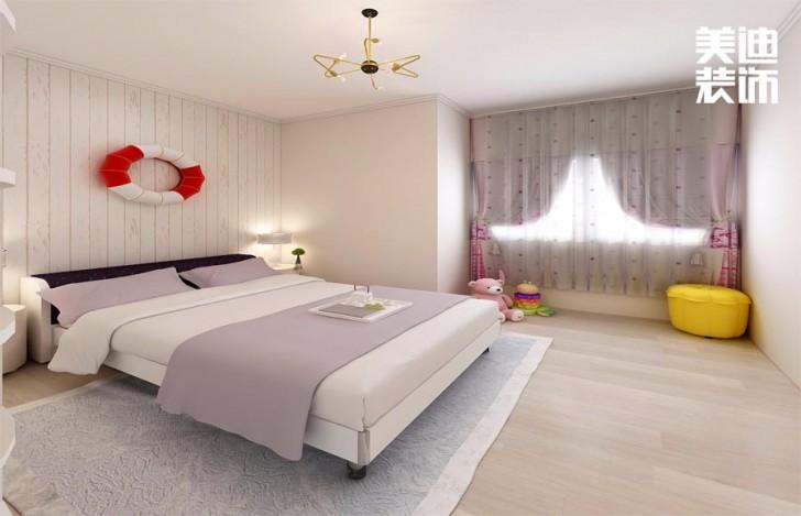 北辰三角洲174平方米北欧风格亚博体育app官方下载苹果效果图--卧室