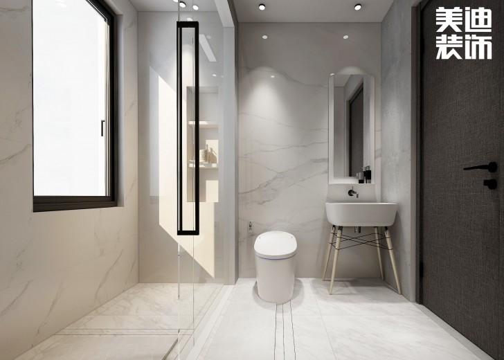 嘉和城138平米北欧极简风格亚博体育app官方下载苹果效果图--浴室