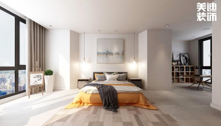 嘉和城138平米北欧极简风格亚博体育app官方下载苹果效果图--卧室